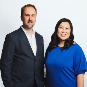 Alex Kluge and  Elaine Mok